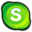 64x64px size png icon of Skype Alternate