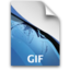 64x64px size png icon of PS GIFFileIcon