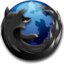 64x64px size png icon of Black Firefox