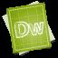 64x64px size png icon of adobe blueprint dreamweaver