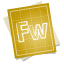 64x64px size png icon of adobe blueprint fireworks