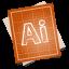 64x64px size png icon of adobe blueprint illustrator