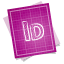 64x64px size png icon of adobe blueprint indesign