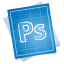64x64px size png icon of adobe blueprint photoshop