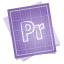 64x64px size png icon of adobe blueprint premiere