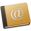 64x64px size png icon of Address Book Oldschool