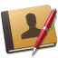 64x64px size png icon of Address Book red