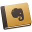 64x64px size png icon of Evernote Brown