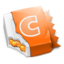 64x64px size png icon of Orange CandyBar