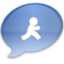64x64px size png icon of iChat Aqua AIM
