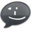 64x64px size png icon of iChat Black Smile