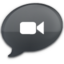 64x64px size png icon of iChat Black