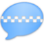 64x64px size png icon of iChat Blue Taxi