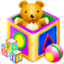64x64px size png icon of package games kids