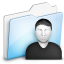 64x64px size png icon of Folder user