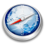 64x64px size png icon of Safari blue