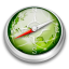 64x64px size png icon of Safari green