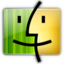 64x64px size png icon of Finder gray yellow