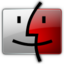 64x64px size png icon of Finder red