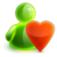 64x64px size png icon of love