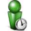 64x64px size png icon of Absent green
