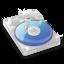 64x64px size png icon of DisqueDur Bleu SZ