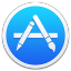 64x64px size png icon of Apple Appstore Border
