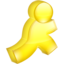 64x64px size png icon of AIM yellow