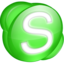 64x64px size png icon of Skype green