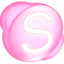 64x64px size png icon of Skype pink