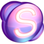 64x64px size png icon of Skype purple