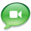 64x64px size png icon of iChat groen 2