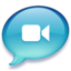 64x64px size png icon of iChat lichtblauw