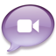 64x64px size png icon of iChat lichtpaars