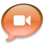 64x64px size png icon of iChat oranje