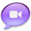 64x64px size png icon of iChat paars