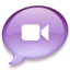 64x64px size png icon of iChat purple