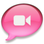 64x64px size png icon of iChat roze