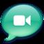 64x64px size png icon of iChat zeegroen