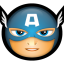 64x64px size png icon of Avengers Captain America