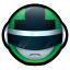 64x64px size png icon of Bioman Avatar 2 Green