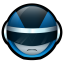 64x64px size png icon of Bioman Avatar 3 Blue