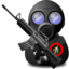 64x64px size png icon of Gas Soldier with Weapon