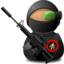 64x64px size png icon of Sniper Soldier with Weapon