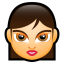 64x64px size png icon of Female Face FA 4