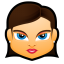 64x64px size png icon of Female Face FB 1