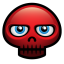 64x64px size png icon of red skull