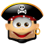 64x64px size png icon of Pirate Smile