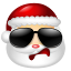 64x64px size png icon of Santa Claus Cool