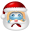 64x64px size png icon of Santa Claus Cry